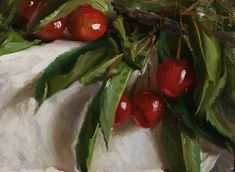 daily painting titled Wild cherries