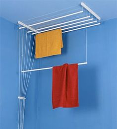 Clothes Drying Rack Ceiling-Mounted Clothes Dryer with 6 Seperate Rods x Drying Capacity