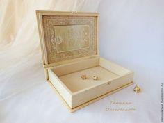 Presentes artesanais registrados.  O livro-caixa 'klassika` casamento, decoupage.  Tatiana Olkhovikova.  Mestres justos.