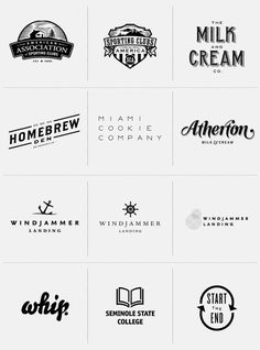 i like the fonts of some of these. especially of the miami cookie company