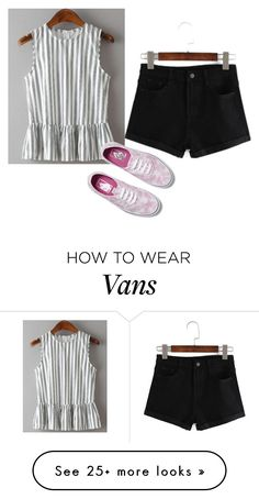 """Tie Die Vans"" by sillycatgrl on Polyvore featuring Vans"