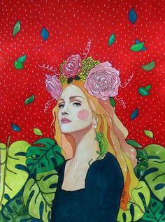 """madonna"" (30x40cm watercolour on paper)"