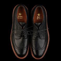 Alden, Corbett Longwing in Black Scotch Grain Gentleman Shoes, Modern Gentleman, Gentleman Style, Modern Man, Black Shoes, Men's Shoes, Dress Shoes, Wingtip Shoes, Brogues