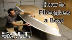 The seventh video in the how-to build a boat series shows how to fiberglass the boat hull with epoxy resin. This includes laying fiberglass, wetting out the . How To Build Abs, Build Your Own Boat, Make A Boat, Wooden Boat Building, Boat Building Plans, How To Fiberglass, Plywood Boat Plans, Boat Kits, Jon Boat