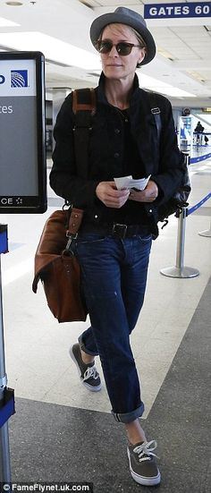 House Of Cards actress Robin Wright departing on a flight at LAX airport...