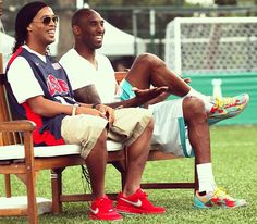 """Kobe and Ronaldinho in Brazil, for his Black Mamba Tour"""". The Black Mamba Tour included stops in São Paulo, Salvador and Rio de Janeiro. In São Paulo, Bryant stopped traffic and greeted lines of fans outside the opening of Nike's exclusive """"Arena Selecao"""" store designed to celebrate Brasilian football. During the tour Bryant spent time with football icons Ronaldo, Neymar and Ronaldinho and with the Brasilian football team fresh off their victory over Italy in South America."""