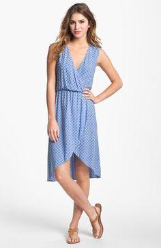 cutout faux wrap dress