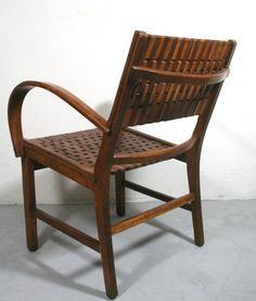 Erich Dieckmann; Armchair for Gelenka, 1940s.