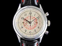 Zenith chronograph steel vintage watch – c1950s