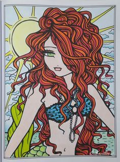 Mermaids, Fairies, & Other Girls of Whimsy - Coloriage anti-stress…