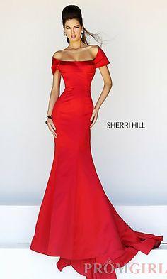 Long Off the Shoulder Formal Gown