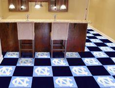 "North Carolina Tar Heels 18 x 18"" Modular Carpet Floor Tiles - 20pc Box Set"