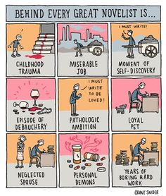 Behind every novelist
