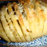 Sliced Baked Potatoes with Herbs and Cheese   No Empty Chairs