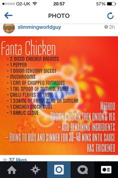 Slimming world sweet and sour sauce fanta Slimming world recipes for 1 person