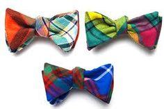 multi color plaid bowties