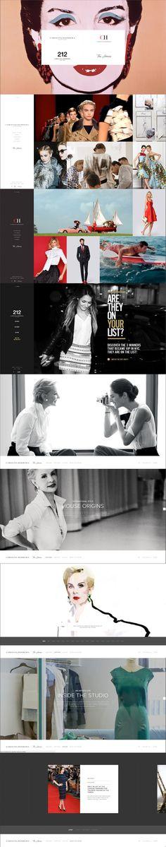 Carolina Herrera #webdesign #inspiration #UI #Flexible #CSS3 #Fullscreen #Navigation #Black #White #Red