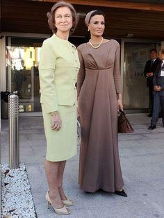 Sheikha Mozah with Queen Sofia of Spain