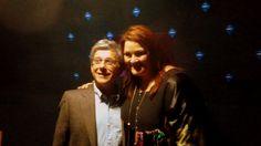 El jefe de la delegación de la UE en Chile Rafael Dochao, junto a la cantante Islandesa Hera Björk, participante de Eurovisión 2010.