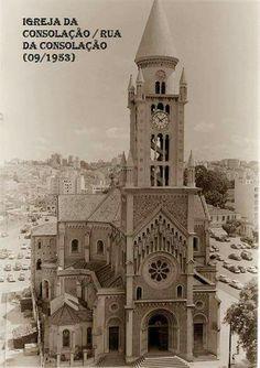 Setembro de 1953 - Igreja da Consolação, na rua da Consolação.