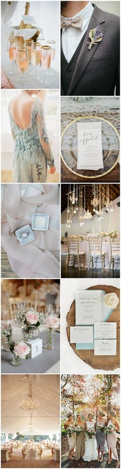 Rose Quartz and Serenity Blue are the wedding colours of the year, and today we're making them even more modern and elegant with the help of glamorous gold and gorgeous grey.