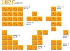 CHEEZ-IT Area & Perimeter...math is SO much more fun with food!!!