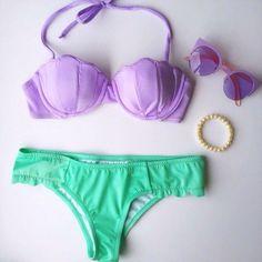 Mermaid Babe Bikini Set - $21