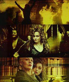 Bellatrix Lestrange; Helena Bonham Carter did a perfect job with this character