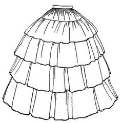 TV241  1854 Flounced Skirt Pattern by patternsoftime on Etsy, $12.95
