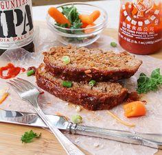 Sriracha Quinoa Meatloaf — #GlutenFree #recipe from Inspired Edibles