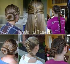 A collage of 6 popular hair tutorials we have recently posted!