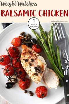 This Balsamic Chicken is just 1 Smart Point per serving on Weight Watchers Freestyle plan. A delicious, easy and low point Weight Watchers chicken recipe Weight Watchers Pasta, Weight Watchers Casserole, Weight Watcher Dinners, Weight Watchers Desserts, Friend Chicken Recipe, Chicken Recipes, Potato Recipes, Whole Food Recipes, Diet Recipes