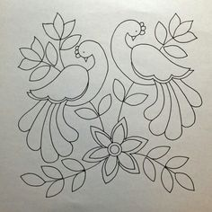Awesome Most Popular Embroidery Patterns Ideas. Most Popular Embroidery Patterns Ideas. Mexican Embroidery, Crewel Embroidery, Hand Embroidery Patterns, Applique Patterns, Applique Quilts, Beaded Embroidery, Peacock Embroidery Designs, Quilled Creations, Satin Stitch