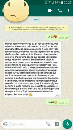 Nossa... Doeuuu! rs Just Smile, Happy Smile, Some Sentences, Boys Are Stupid, Sad Wallpaper, Memes Status, Love Phrases, Motivational Phrases, Sad Love