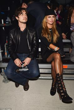 A fancy affair: She was seated next to Italian film actor and producer Riccardo Scamarcio...