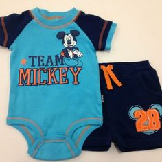 MICKEY MOUSE Disney Cuddly Bodysuit™ and Short Set