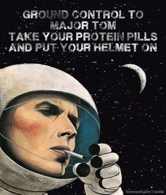 Ground control to Major Tom / Can you hear me all night long? / Ground control to Major Tom – Terrence Loves You Lyrics Meaning