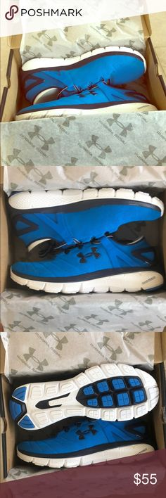 Under Armour Speedform Fortis Vent Running Shoes Under Armour Speedform Fortis Vent Running Shoes. NWT. Never worn except to try on. Original box and packaging in the shoes. Blue. Size 11. My husband had the same kind in black same size but said these were a little small for him. Also he's not a fan of the blue. Unfortunately for us, fortunately for you he decided that the didn't want to keep them after the return date had passed. Under Armour Shoes Athletic Shoes