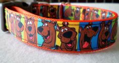 Scooby Doo Dog Collar (large) by dlkompare on Etsy