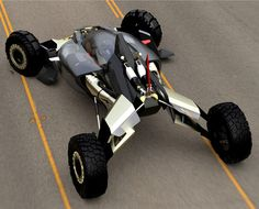 Honda Synergy off-road buggy electric vehicle concept, with extreme off-road design.The Honda Synergy designed by Darby Jean Barber, at Honda Advanced Design Studio, is powered by dual electric motor. Go Kart Buggy, Off Road Buggy, Off Road Vehicle, Electric Car Concept, Electric Cars, Electric Vehicle, Electric Motor, Futuristic Motorcycle, Futuristic Cars