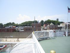 Cape Girardeau from the deck of the American Queen by Cape Girardeau Convention and Visitors Bureau, via Flickr