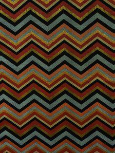 GRAND REGGAE ONYX #black-gray-silver #chevrons #multi-colored #orange-rust #woven-fabrics