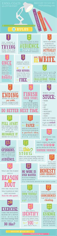 Emma Coats: 22 Rules of Storytelling via Pixar - http://infographicaday.com/emma-coats-22-rules-of-storytelling