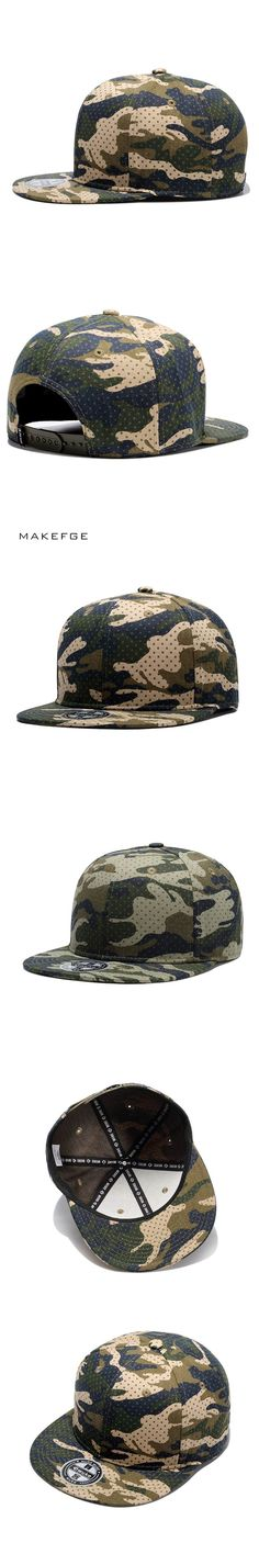 hip hop Camouflage Baseball Cap Snapback Hats For Men Women Unisex Flat Cap With Straight Visor Camo Army Fans Adjustable Casual
