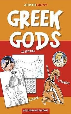 Greek gods, activities book, greek culture, mythology, visit greece, travel, holidays, mediterraneo editions, www.mediterraneo.gr