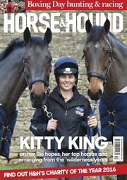 We're very excited that we will be unveiling our 2016 charity of the year in tomorrow's magazine (on sale Thursday 31 December), as well as bringing you all the hunting and racing action from over the festive period and a very special interview with our cover star Kitty King. Make sure you get your copy!