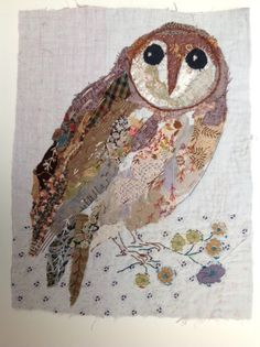 Mandy Pattullo...I treasure the old and worn and refashion them into little textile collages in my studio in a 17th century converted manse in Northumberland,