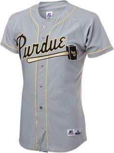 Purdue Boilermakers Grey Baseball Jersey