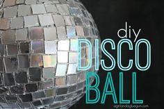 DIY Disco Ball By Girl with a Glue Gun