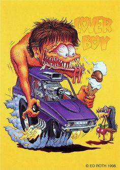 rat fink ed big daddy roth lover boy Cool Car Drawings, Cartoon Drawings, Cartoon Art, Rat Fink, Ed Roth Art, Funny Rats, Monster Car, Monster Trucks, Biker